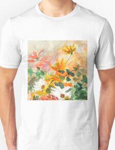 orange yellow white flower Unisex T-Shirt