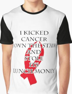 Cancer Bully (Red Ribbon)  Graphic T-Shirt