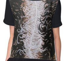 Feathers and Pearls Chiffon Top