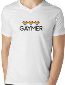 Gaymer Funny Rainbow LGBT Pride Video Game Lives Mens V-Neck T-Shirt