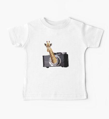 peek a giraffe Baby Tee