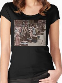 Working in an Assembly Line Women's Fitted Scoop T-Shirt