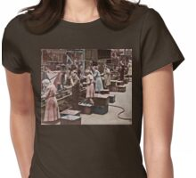 Working in an Assembly Line Womens Fitted T-Shirt