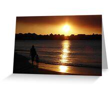 Sunset Beach Silhouette Mandurah Weatern Australia Greeting Card