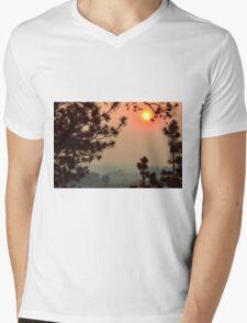 Wildfire Smoke  Mens V-Neck T-Shirt