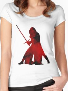 Kylo Ren - Star Wars Women's Fitted Scoop T-Shirt