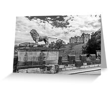 Alnwick Castle, Northumberland Greeting Card