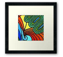 tropical foliage artwork Framed Print