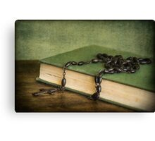 Reading the Good Book Canvas Print
