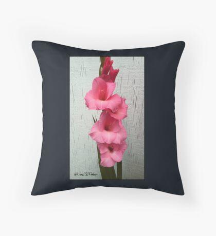 Late Fall Gladiola Throw Pillow