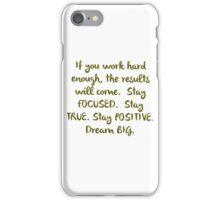"""Eye On The Prize"" Dream BIG Design iPhone Case/Skin"