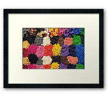 Colorful pattern of balloon nozzles Framed Print