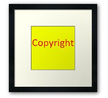 Copyright 3 Framed Print
