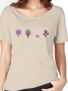 Little Nature Purple Women's Relaxed Fit T-Shirt