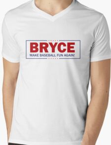 Bryce - Make Baseball Fun Again! Mens V-Neck T-Shirt