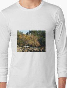 Autumn in Tasmania - Launceston Cataract Gorge Long Sleeve T-Shirt