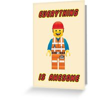 Emmet Brickowski / Everything is Awesome Greeting Card