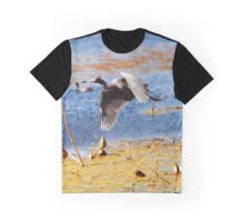 Flying Blue Heron At Brazos Bend State Park Texas Wetland Graphic T-Shirt