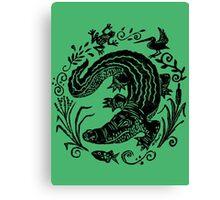 Gator Marsh Canvas Print