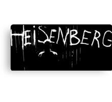 Heisenberg Spray Paint with Heisenberg Shadow - Walter White - Breaking Bad Canvas Print