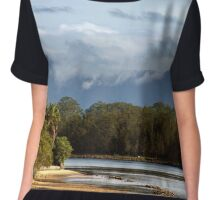 From the Mountains to the Sea Chiffon Top