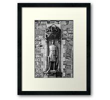 Statue of Robert the Bruce at Edinburgh Castle Framed Print