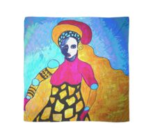 Lady With Gold Hair Scarf