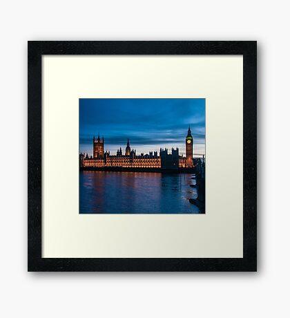 Houses of Parliament & Big Ben, London, England Framed Print