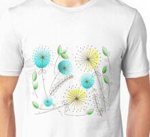 Mid-Century Modern Dandelion Clocks Unisex T-Shirt