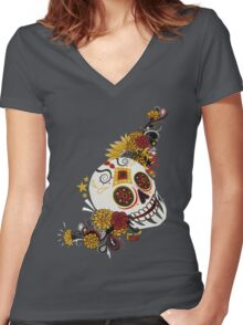 Day of the Punk Women's Fitted V-Neck T-Shirt