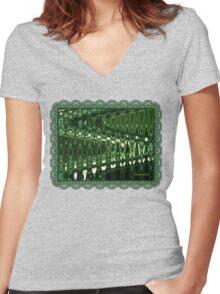 Go Green ~ Good Vibrations Women's Fitted V-Neck T-Shirt