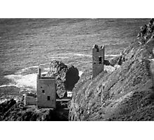 The Crown Mines engine houses, Botallack, Cornwall Photographic Print