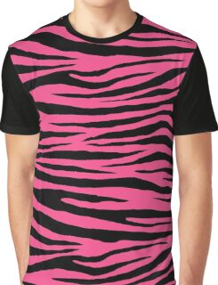 0277 French Rose Tiger Graphic T-Shirt