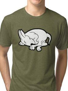 English Bull Terrier Sleeping  Tri-blend T-Shirt