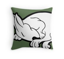 English Bull Terrier Sleeping  Throw Pillow