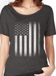 Grunge Look American Flag Women's Relaxed Fit T-Shirt