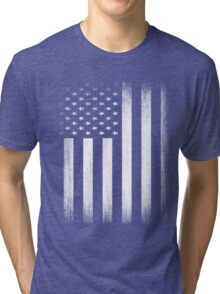 Grunge Look American Flag Tri-blend T-Shirt