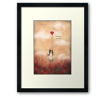 loVe from up above Framed Print