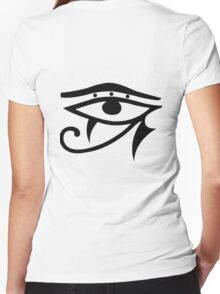 Egyptian Eye Women's Fitted V-Neck T-Shirt