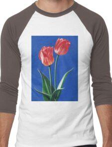 Two Tulips Men's Baseball ¾ T-Shirt