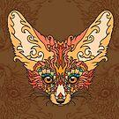 - Desert fox print - by Losenko  Mila