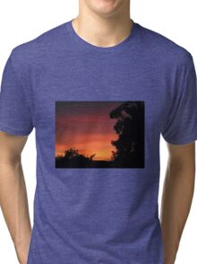 Spectacular Sunrise Launceston Tasmania Tri-blend T-Shirt