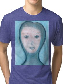 Portrait of The Visitor, Welcome To Stay Tri-blend T-Shirt