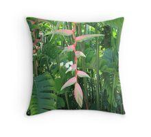 Beautiful Tropical Greenery Throw Pillow