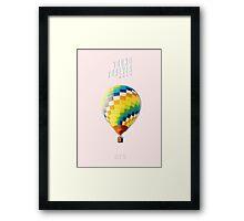 BTS/Bangtan Sonyeondan - Young Forever Balloon (Pink) Framed Print