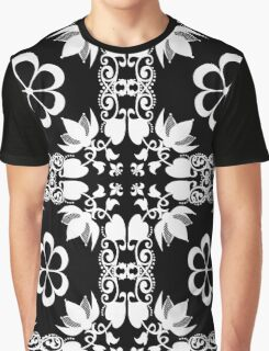 Ornamental seamless pattern damask arabesque white elements texture black Graphic T-Shirt