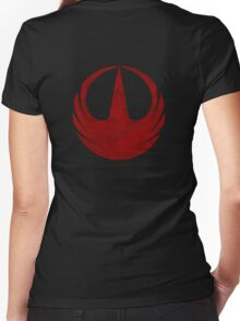 rebel alliance rogue one starbird Women's Fitted V-Neck T-Shirt
