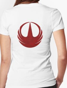 rebel alliance rogue one starbird Womens Fitted T-Shirt