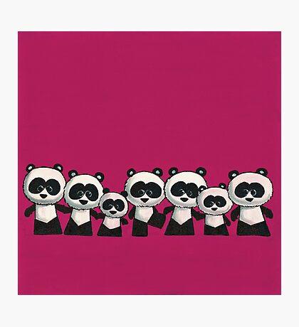 Splatter Pandas Photographic Print