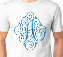Monogram Watercolor Calligraphy Letter A Unisex T-Shirt